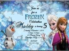 48 Customize Birthday Invitation Template Frozen For Free for Birthday Invitation Template Frozen