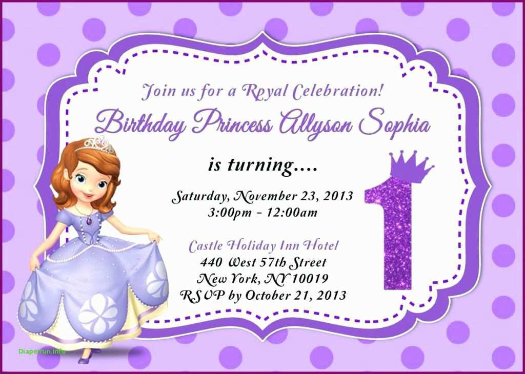 48 Customize Our Free Princess Sofia Birthday Invitation Template for Ms Word by Princess Sofia Birthday Invitation Template