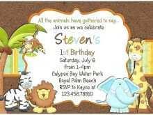48 Printable Birthday Invitation Template Animals Maker by Birthday Invitation Template Animals