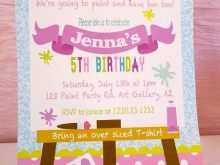 Craft Party Invitation Template
