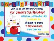 49 Creative Bowling Party Invitation Template Free Now by Bowling Party Invitation Template Free