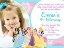 49 Customize Birthday Invitation Templates Disney Princess Templates with Birthday Invitation Templates Disney Princess