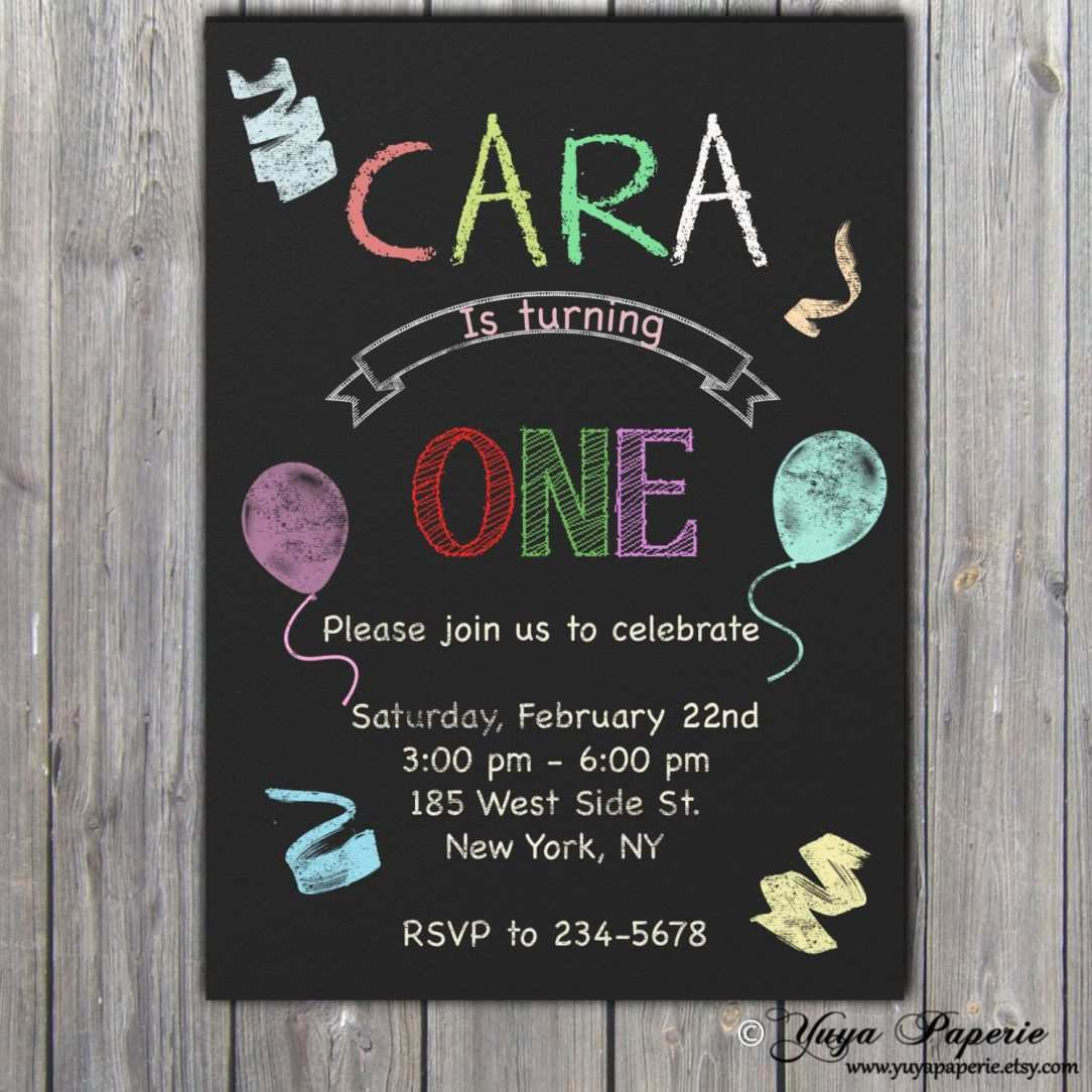 49 Free Chalkboard Birthday Invitation Template Free Maker by Chalkboard Birthday Invitation Template Free