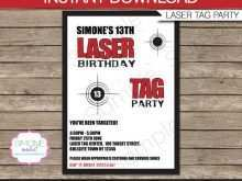 49 How To Create Birthday Invitation Template Laser Tag For Free with Birthday Invitation Template Laser Tag