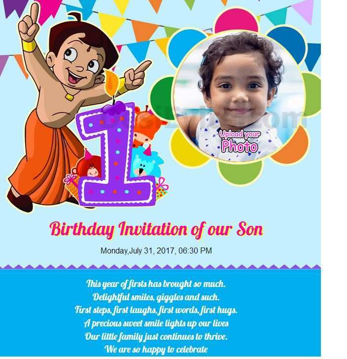 49 Online Birthday Invitation Template Chota Bheem Photo with Birthday Invitation Template Chota Bheem