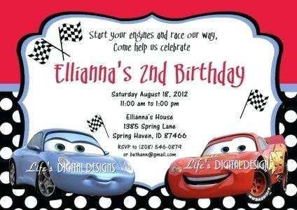 49 Online Cars Birthday Invitation Template Photo for Cars Birthday Invitation Template