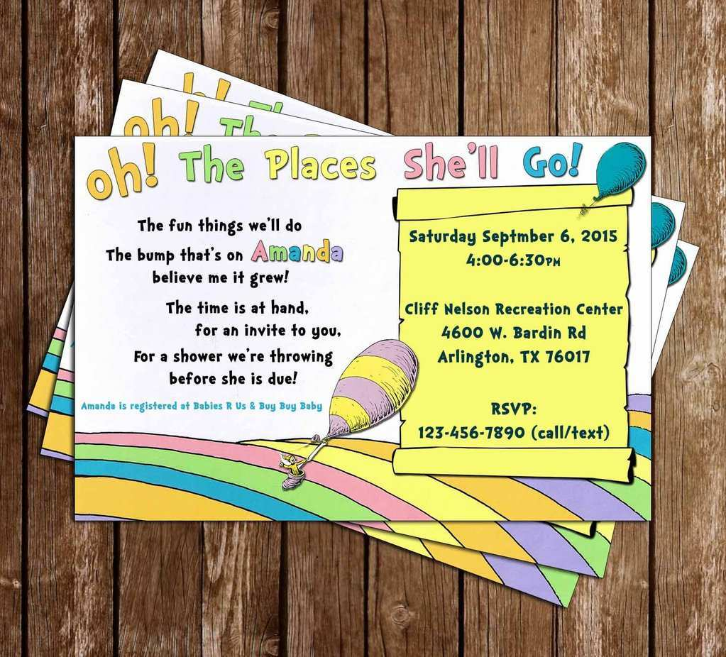 49 Printable Oh The Places You Ll Go Birthday Invitation Template Free Download by Oh The Places You Ll Go Birthday Invitation Template Free