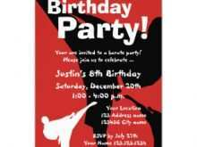 49 Standard Karate Party Invitation Template Layouts by Karate Party Invitation Template