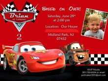 49 The Best Cars Birthday Invitation Template PSD File for Cars Birthday Invitation Template