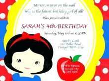 50 Best Birthday Invitation Template Snow White for Ms Word by Birthday Invitation Template Snow White