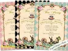 50 Blank Blank Alice In Wonderland Invitation Template Maker with Blank Alice In Wonderland Invitation Template