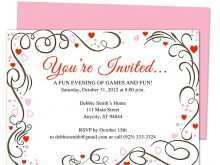 Birthday Invitation Template Publisher