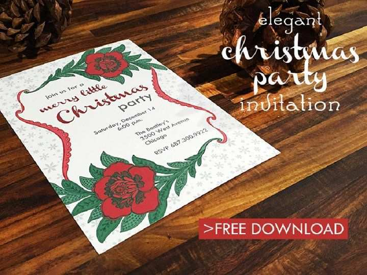 50 Free Printable Elegant Christmas Party Invitation Template Free Download in Word with Elegant Christmas Party Invitation Template Free Download