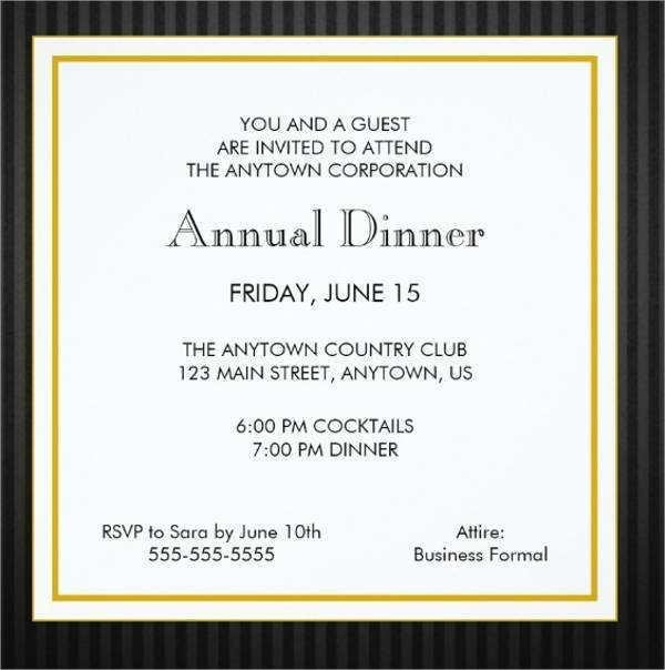 50 Free Printable Formal Invitation Dinner Template Layouts with Formal Invitation Dinner Template