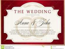 Wedding Invitation Template Red