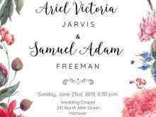 51 Adding Floral Wedding Invitation Template Maker with Floral Wedding Invitation Template