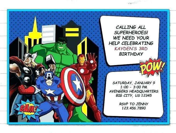 51 Blank Avengers Birthday Invitation Template For Free by Avengers Birthday Invitation Template