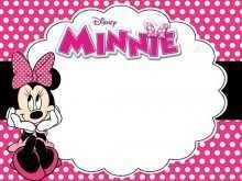 51 Blank Minnie Mouse Birthday Invitation Template Download by Minnie Mouse Birthday Invitation Template