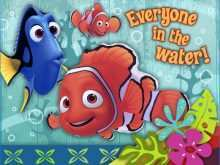 51 Blank Nemo Birthday Invitation Template With Stunning Design with Nemo Birthday Invitation Template