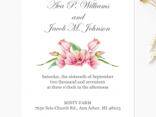 Wedding Invitation Template To Print