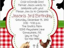 51 Creative Farm Animal Birthday Invitation Template Templates for Farm Animal Birthday Invitation Template