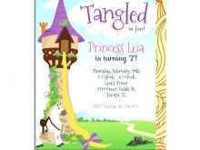 Rapunzel Birthday Invitation Template