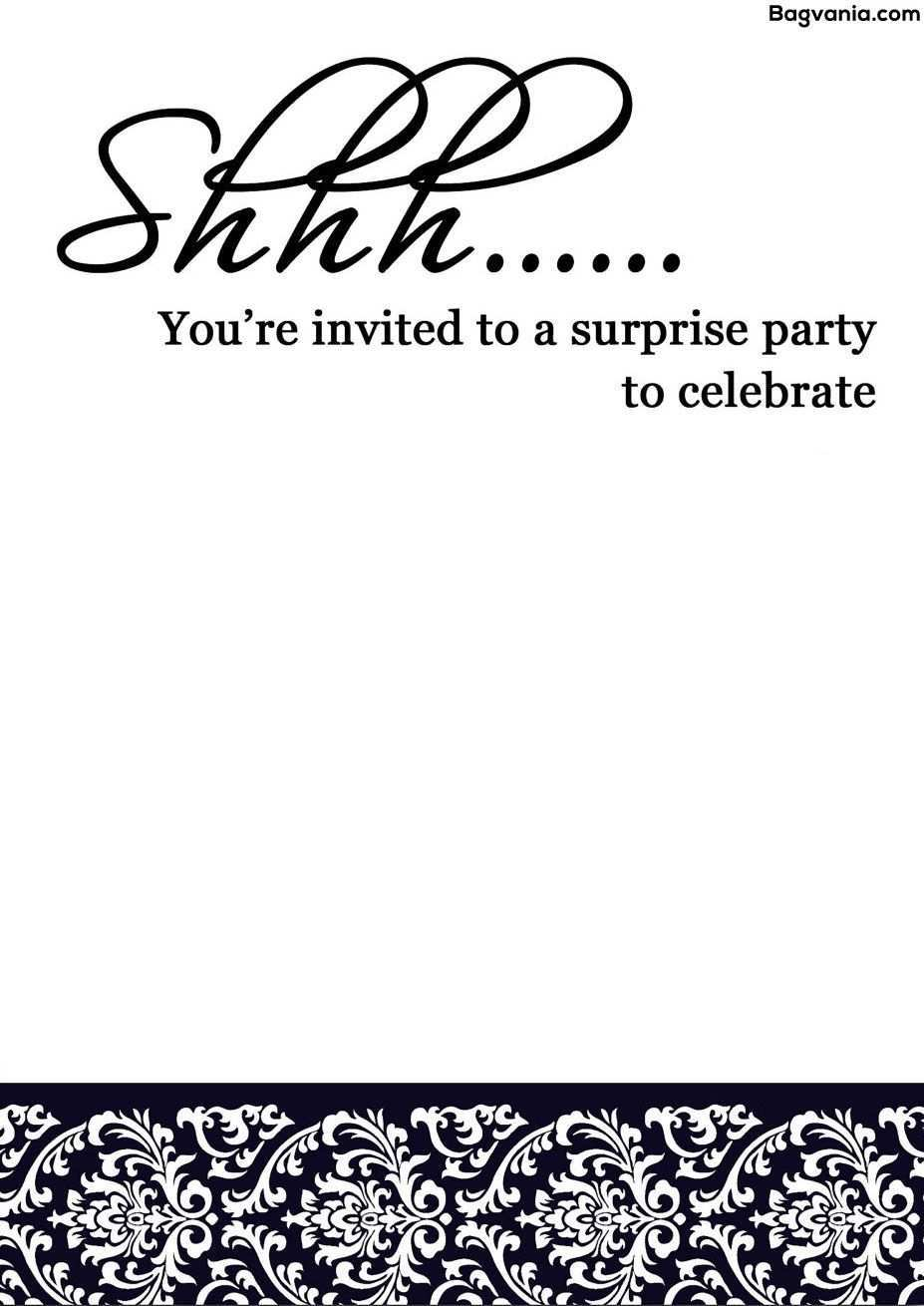 4 Customize Surprise Party Invitation Template Uk Templates for