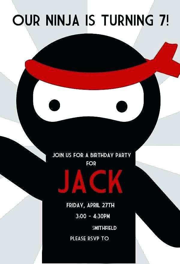 51 Format Ninja Birthday Party Invitation Template Free PSD File with Ninja Birthday Party Invitation Template Free