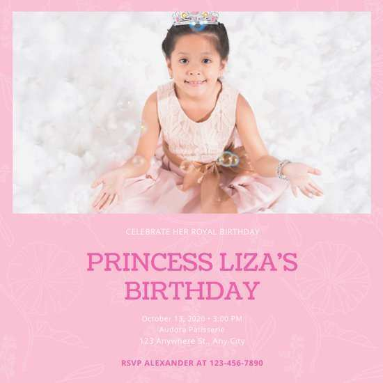 51 Online Birthday Invitation Template For Baby Girl Photo by Birthday Invitation Template For Baby Girl