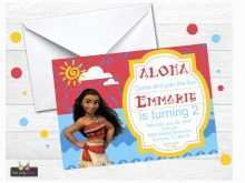 51 Printable Baby Moana Birthday Invitation Template For Free with Baby Moana Birthday Invitation Template