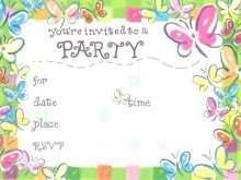 51 Printable Birthday Invitation Template Butterfly Party Maker for Birthday Invitation Template Butterfly Party