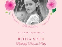51 Standard Birthday Invitation Template Baby Girl PSD File for Birthday Invitation Template Baby Girl