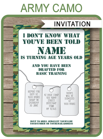 52 Create Camouflage Party Invitation Template Layouts with Camouflage Party Invitation Template