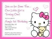 52 Create Hello Kitty Blank Invitation Template Layouts for Hello Kitty Blank Invitation Template