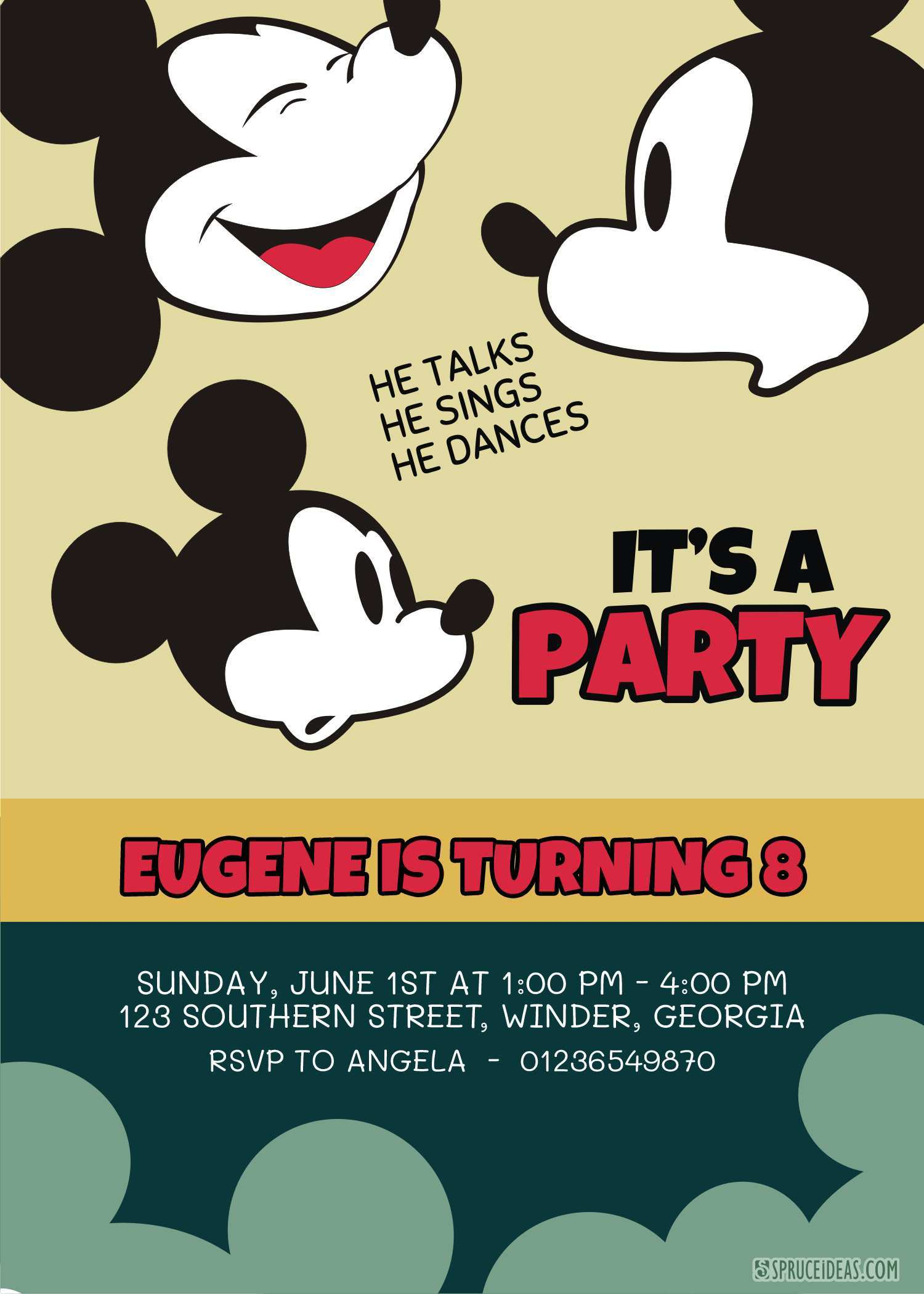 52 Creative Editable Mickey Mouse Birthday Invitation Template Formating for Editable Mickey Mouse Birthday Invitation Template