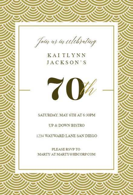 52 How To Create 70 Year Old Birthday Invitation Template for Ms Word with 70 Year Old Birthday Invitation Template