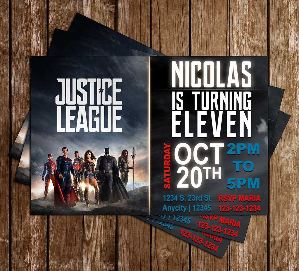 52 Online Justice League Birthday Invitation Template Templates by Justice League Birthday Invitation Template