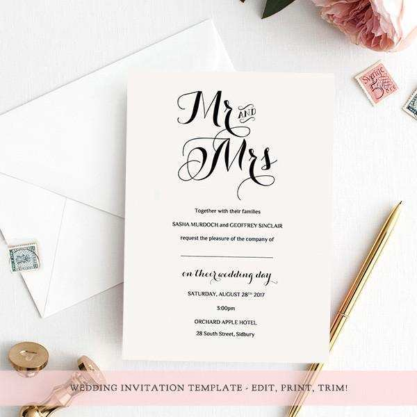 52 Online Wedding Invitation Template Download And Print With Stunning Design with Wedding Invitation Template Download And Print