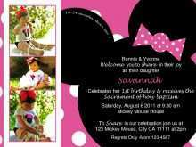 Birthday Invitation Template Minnie Mouse