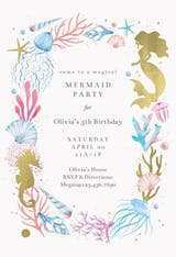 52 The Best Blank Mermaid Invitation Template Now for Blank Mermaid Invitation Template