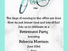 53 Adding Formal Retirement Invitation Template For Free by Formal Retirement Invitation Template