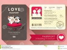 53 Best Free Passport Wedding Invitation Template Maker for Free Passport Wedding Invitation Template