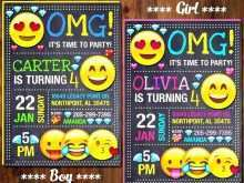 53 Blank Emoji Birthday Party Invitation Template Free For Free by Emoji Birthday Party Invitation Template Free