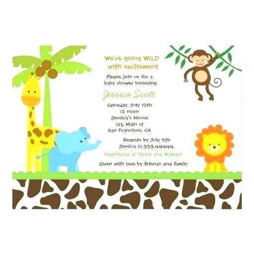 53 Blank Jungle Party Invitation Template Free PSD File for Jungle Party Invitation Template Free