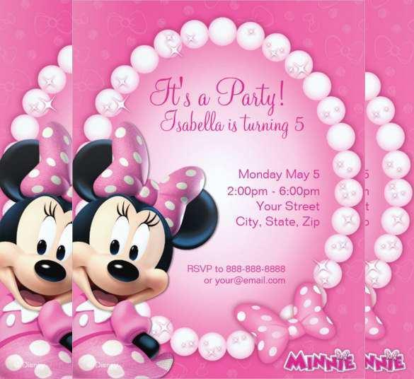 53 Create Birthday Invitation Template Minnie Mouse Formating by Birthday Invitation Template Minnie Mouse