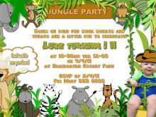 53 Creating Birthday Invitation Template Jungle Theme for Ms Word with Birthday Invitation Template Jungle Theme