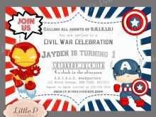 53 Creating Captain America Birthday Invitation Template Download for Captain America Birthday Invitation Template