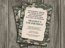 53 Creative Camouflage Party Invitation Template Layouts with Camouflage Party Invitation Template