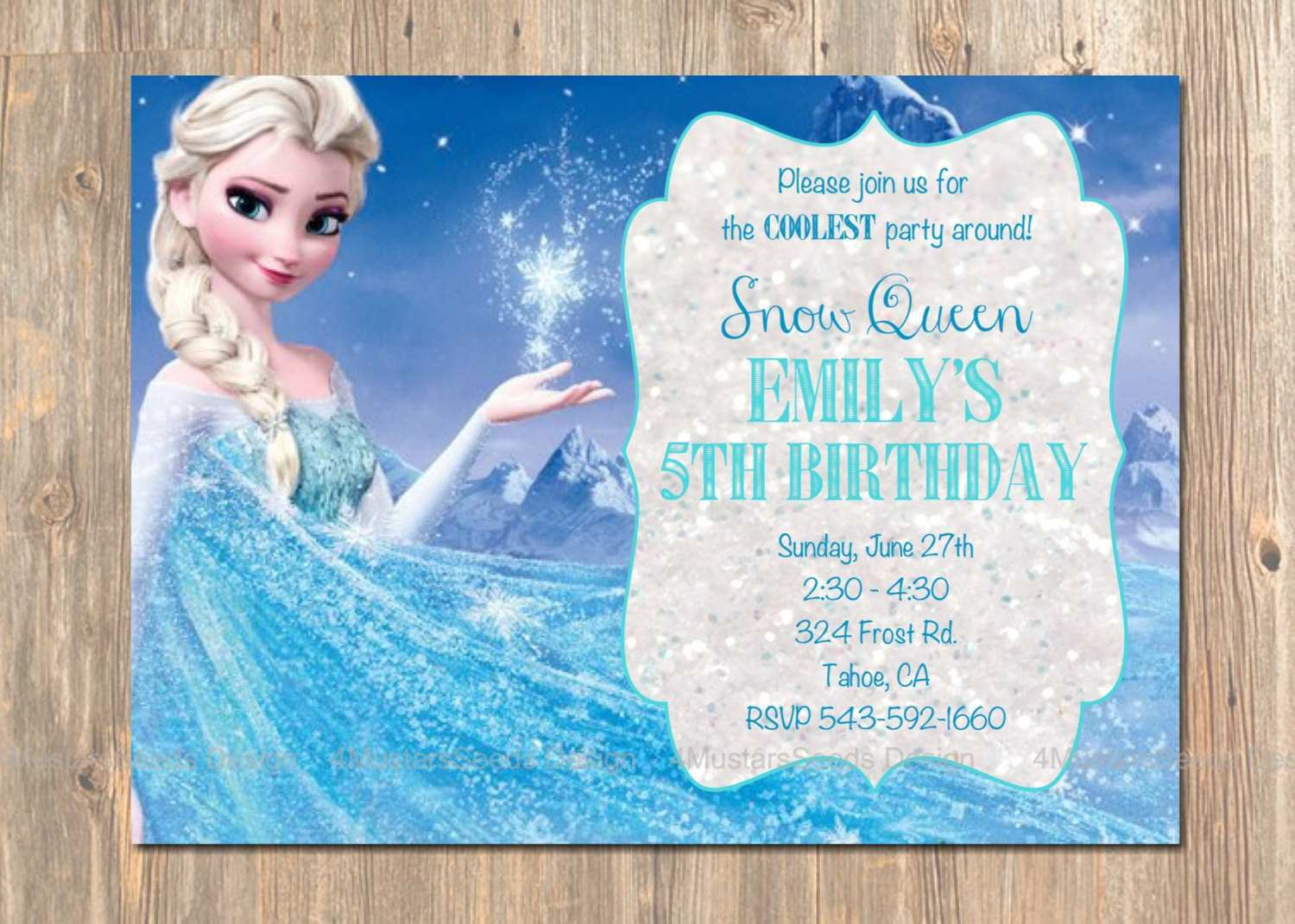 53 Creative Elsa Party Invitation Template With Stunning Design with Elsa Party Invitation Template