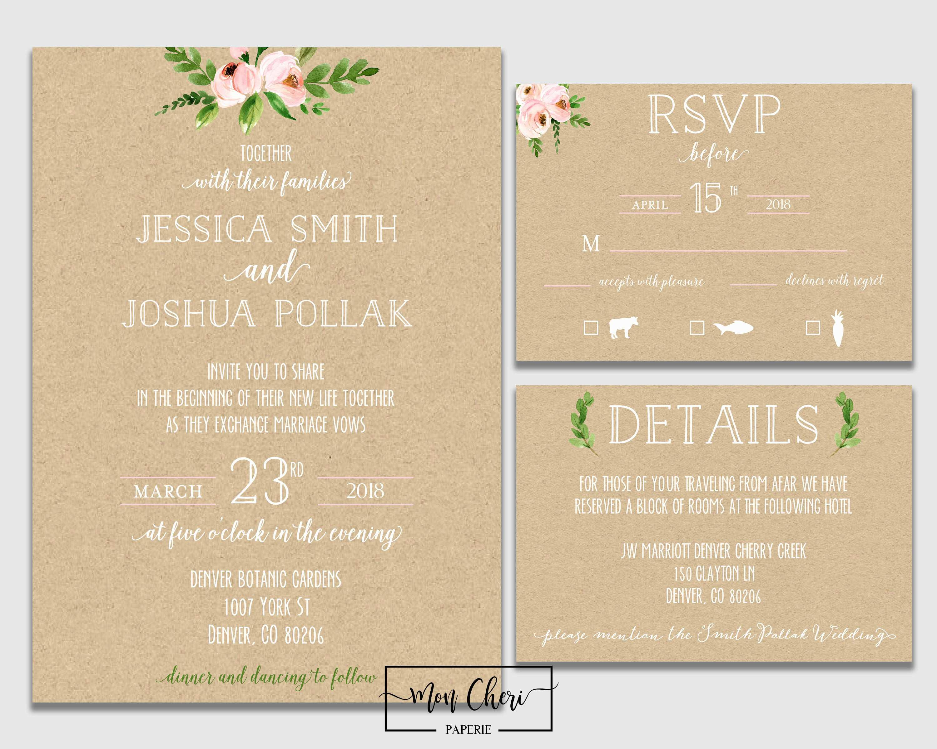 5 Creative Free Vietnamese Wedding Invitation Template for Ms